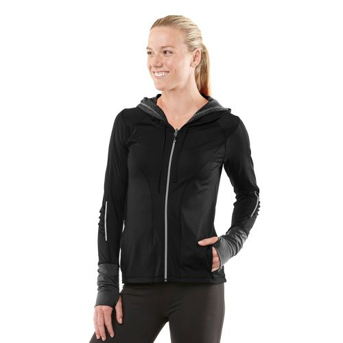 Womens R-Gear Lace To Go Warm-Up Hooded Jackets - Black XS