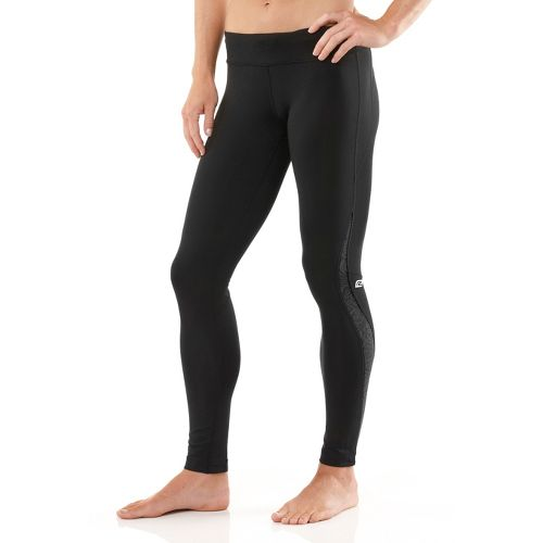 Womens R-Gear Lace Pace Compression Fitted Tights - Black/Heather Charcoal XS