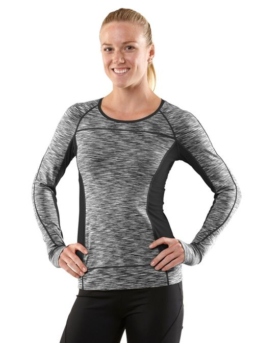 Womens R-Gear Set The Tone Long Sleeve No Zip Technical Tops - Charcoal XL