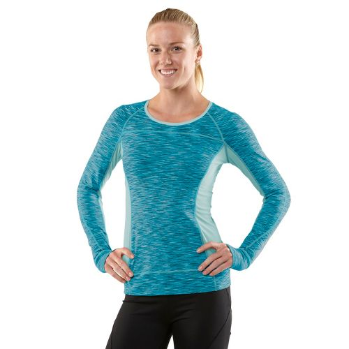 Womens R-Gear Set The Tone Long Sleeve No Zip Technical Tops - Teal Appeal XL ...