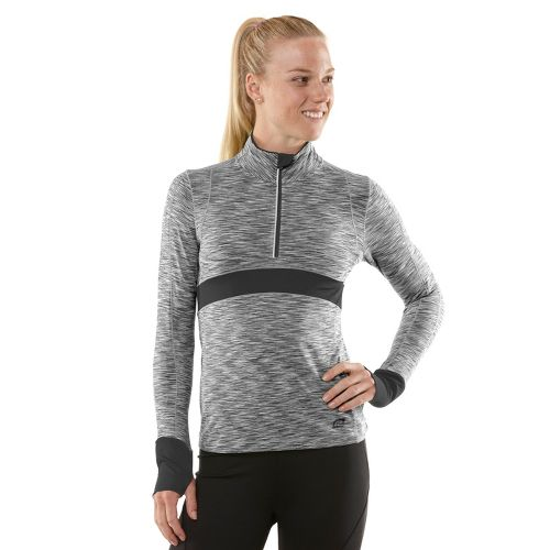Womens R-Gear Set The Tone Half-Zip Long Sleeve 1/2 Zip Technical Tops - Charcoal L ...