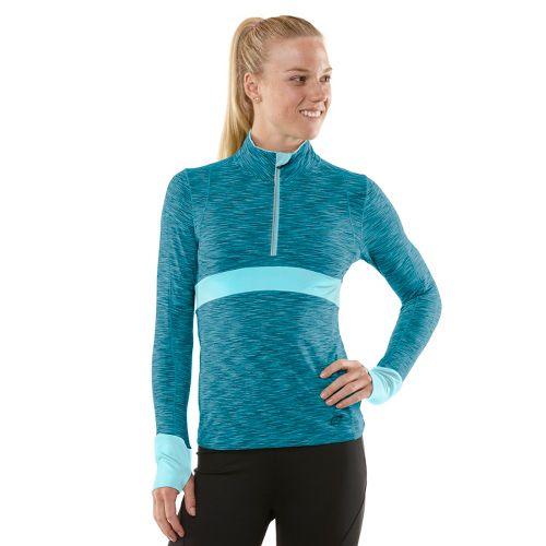 Womens R-Gear Set The Tone Half-Zip Long Sleeve 1/2 Zip Technical Tops - Teal Appeal ...