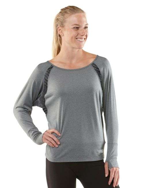 Womens R-Gear Breathe Deep Long Sleeve No Zip Technical Tops - Heather Charcoal M