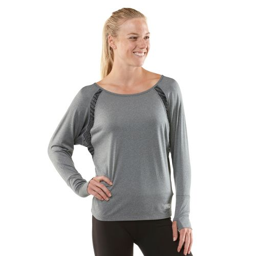 Womens R-Gear Breathe Deep Long Sleeve No Zip Technical Tops - Heather Charcoal L
