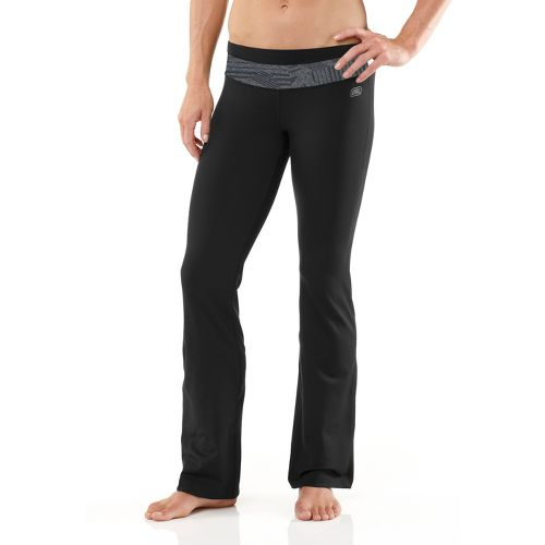 Womens R-Gear Say Om Yoga Full Length Pants - Black/Heather Charcoal XS