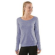 Womens R-Gear Just Blend In Wool Long Sleeve No Zip Technical Tops - Heather Love-Me Lavender XS