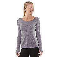 Womens R-Gear Just Blend In Wool Long Sleeve No Zip Technical Tops - Heather Plum Pop XS