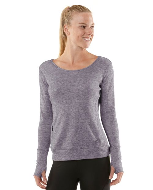 Womens R-Gear Just Blend In Wool Long Sleeve No Zip Technical Tops - Heather Plum Pop XS
