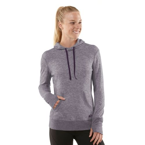 Womens R-Gear Just Blend In Wool Hoodie Long Sleeve No Zip Technical Tops - Heather ...