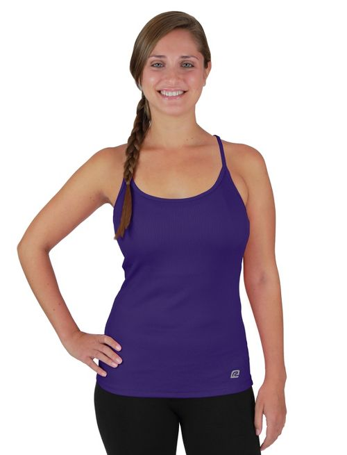 Womens R-Gear Everyday Favorite Strappy Tank Technical Tops - Plum Pop L