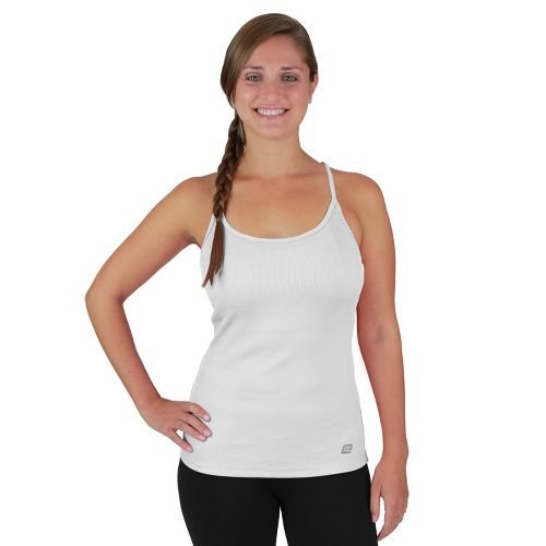 Womens R-Gear Everyday Favorite Strappy Tank Technical Tops - White XL