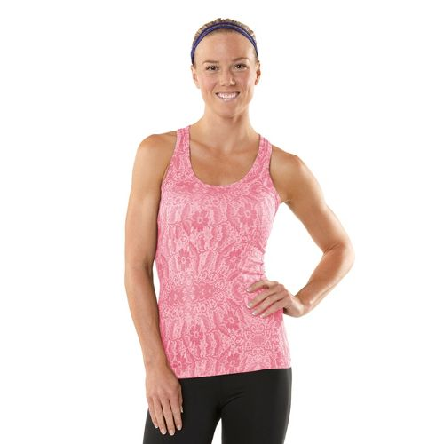 Womens ROAD RUNNER SPORTS Revive Printed Racerback Singlets Technical Tops - Heather Tickled ...