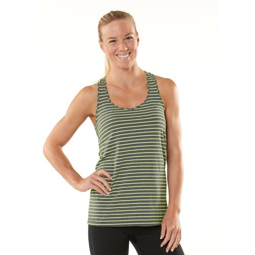 Womens ROAD RUNNER SPORTS Earn Your Stripes Tank Singlets Technical Tops - Heather ...