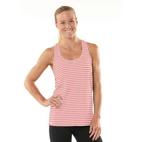 Womens ROAD RUNNER SPORTS Earn Your Stripes Tank Singlets Technical Tops - Just Peachy/Tickled ...