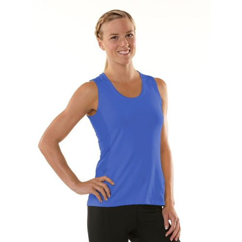 Womens ROAD RUNNER SPORTS Runner's High Sleeveless Technical Tops - Lilac Bloom/Just Peachy XS
