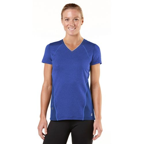 Womens ROAD RUNNER SPORTS Keep Your Cool Short Sleeve Technical Tops - Heather Oceanic/Lilac ...