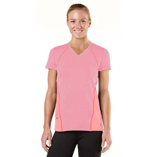 Womens ROAD RUNNER SPORTS Keep Your Cool Short Sleeve Technical Tops - Heather Tickled ...