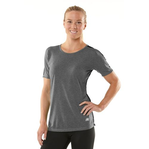 Womens R-Gear Block Party Crew Short Sleeve Technical Tops - Heather Charcoal/Black S