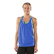 Womens ROAD RUNNER SPORTS Hidden Agenda Geometrica Printed Bra Tank Singlets Technical Tops