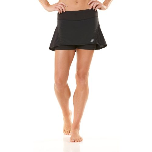 Womens ROAD RUNNER SPORTS Kick Start Skort Fitness Skirts - Black XS