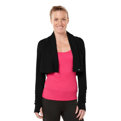 Womens ROAD RUNNER SPORTS Going Places Cardi Long Sleeve Non-Technical Tops - Black XS