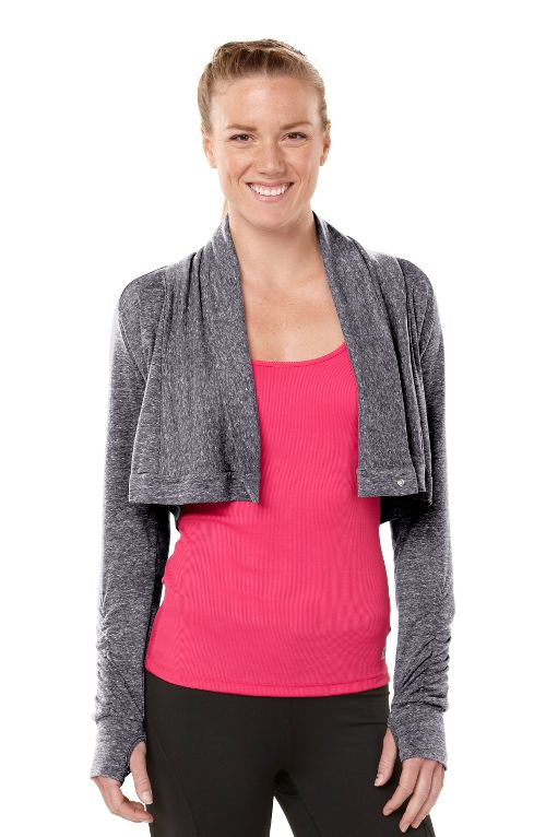 Womens ROAD RUNNER SPORTS Going Places Cardi Long Sleeve Non-Technical Tops - Heather Charcoal L