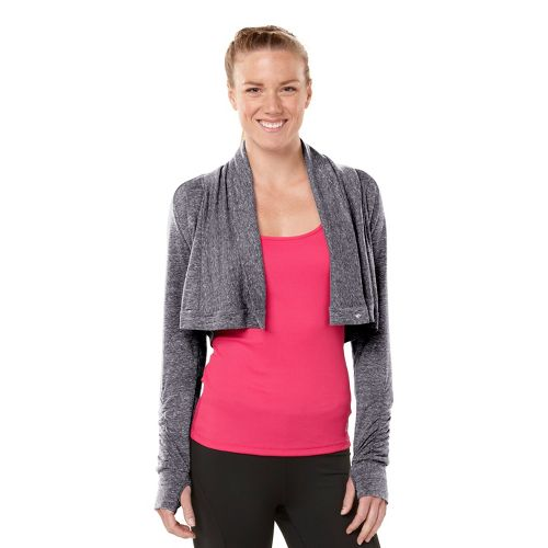 Womens ROAD RUNNER SPORTS Going Places Cardi Long Sleeve Non-Technical Tops - Heather Charcoal ...