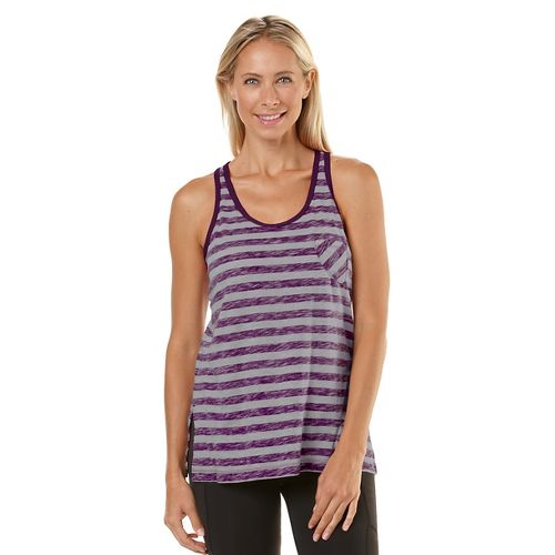 Womens Road Runner Sports Behind The Scenes Tank Technical Tops - Heather Dove Grey/Mulberry ...