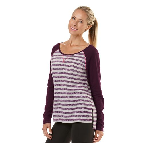Womens Road Runner Sports Behind The Scenes Long Sleeve No Zip Technical Tops - Heather Dove ...