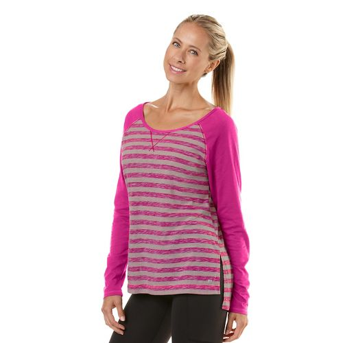 Womens Road Runner Sports Behind The Scenes Long Sleeve No Zip Technical Tops - Heather ...