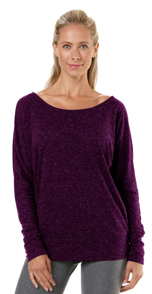 Womens R-Gear All Worked Up Long Sleeve No Zip Technical Top - Heather Mulberry Madness S