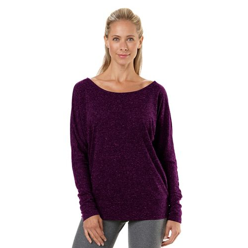 Womens R-Gear All Worked Up Long Sleeve No Zip Technical Top - Heather Mulberry Madness ...