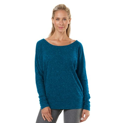 Womens R-Gear All Worked Up Long Sleeve No Zip Technical Top - Heather Peacock Blue ...