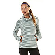 Womens Road Runner Sports Stripe Appeal Pullover Long Sleeve No Zip Technical Tops