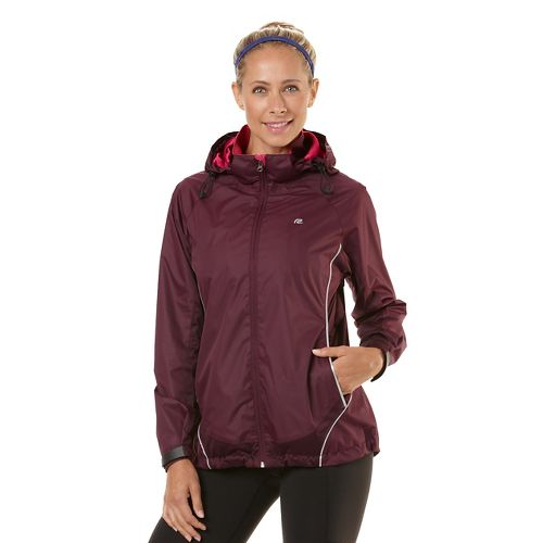 Womens Road Runner Sports Weather The Storm Outerwear Jackets - Mulberry Madness M