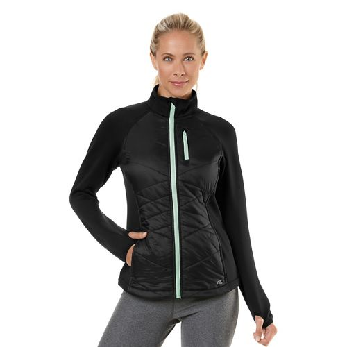 Womens Road Runner Sports Power Puff Jacket Outerwear Jackets - Black/Mintify XS
