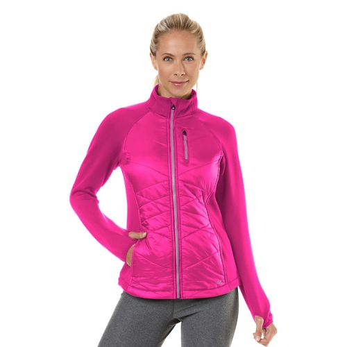 Womens Road Runner Sports Power Puff Jacket Outerwear Jackets - Passion Punch M