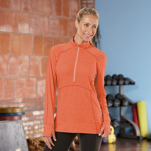 Womens R-Gear Set The Stage Long Sleeve 1/2 Zip Technical Tops - Mimosa M