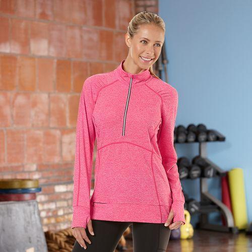 Womens Road Runner Sports Set The Stage Long Sleeve 1/2 Zip Technical Tops - Passion ...