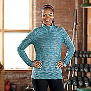 Womens R-Gear Set The Stage Printed Long Sleeve 1/2 Zip Technical Tops
