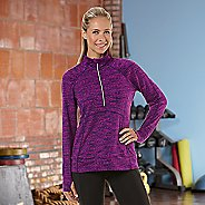 Womens Road Runner Sports Set The Stage Printed Long Sleeve 1/2 Zip Technical Tops