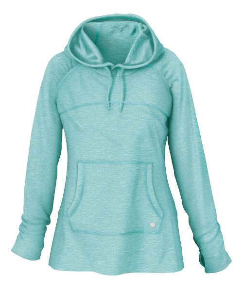 Womens R-Gear On The Move Hoodie Long Sleeve No Zip Technical Tops - Aruba Blue ...