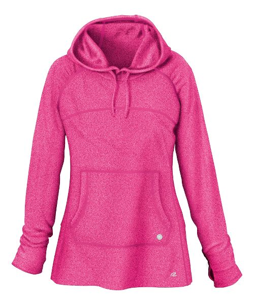 Womens R-Gear On The Move Hoodie Long Sleeve No Zip Technical Tops - Pink Pop ...