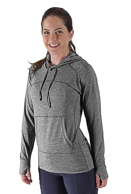 Womens R-Gear On The Move Hoodie Long Sleeve No Zip Technical Tops - Pink Pop L