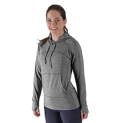 Womens R-Gear On The Move Hoodie Long Sleeve No Zip Technical Tops - Heather Charcoal ...