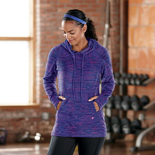 Womens R-Gear On The Move Printed Hoodie Long Sleeve No Zip Technical Tops - Twilight ...