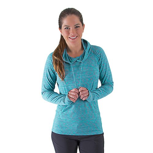 Womens Road Runner Sports On The Move Printed Hoodie Long Sleeve No Zip Technical Tops ...