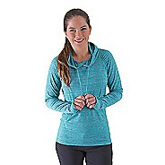 Womens Road Runner Sports On The Move Printed Hoodie Long Sleeve No Zip Technical Tops
