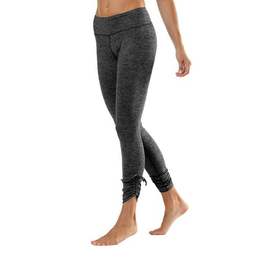 Womens Road Runner Sports Cinch-n-Inch Fitted Tights - Black XS