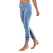 Womens Road Runner Sports Cinch-n-Inch Fitted Tights - Peacock Blue XL